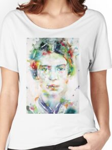 EMILY DICKINSON - watercolor portrait Women's Relaxed Fit T-Shirt