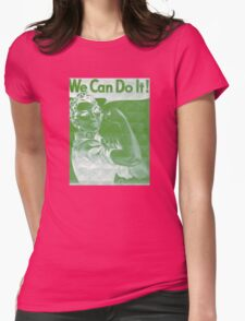 We Can Do It!!!  WWII Womens Fitted T-Shirt