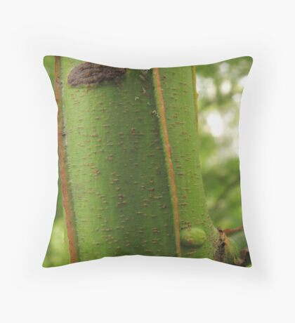 Vertical Green Throw Pillow