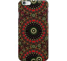 Digital Abstract Geometric Pattern in Warm Colors iPhone Case/Skin