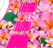Guitar of Pink Flowers Sticker