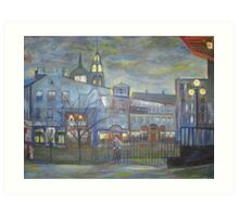 When Night falls / On The Beautiful City Streets           ( My Paintings )  Art Print