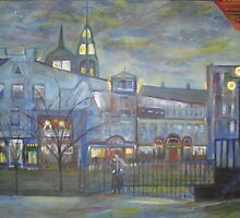 When Night falls / On The Beautiful City Streets           ( My Paintings )  by John Todaro