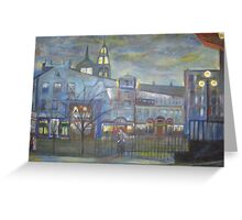 When Night falls / On The Beautiful City Streets           ( My Paintings )  Greeting Card