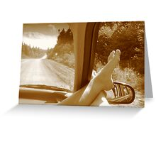 Open Road, Bare Feet Greeting Card
