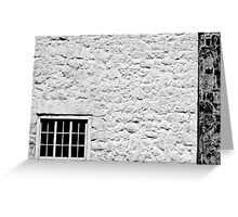 Window on White Wall Greeting Card
