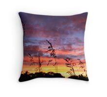 The Harvest Sunset Throw Pillow