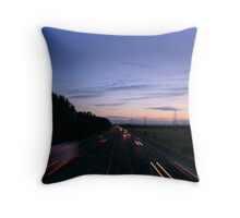 taillights and sunsets Throw Pillow