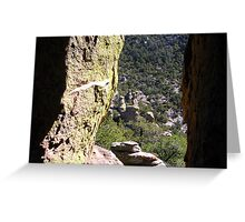 View Through a Hole in a Rock Greeting Card