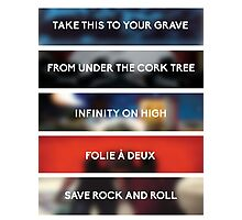 FOB discography Photographic Print