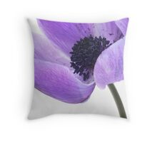 Anemone (mauve) Throw Pillow