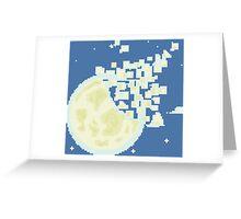 Broken Pixel - Fragment Moon! Greeting Card