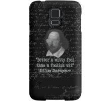 the Witty Fool Samsung Galaxy Case/Skin