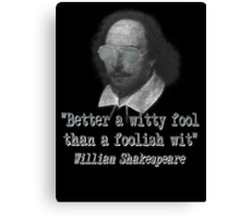 the Witty Fool Canvas Print