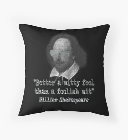 the Witty Fool Throw Pillow