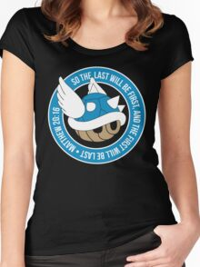 Blue Turtle Shell Women's Fitted Scoop T-Shirt