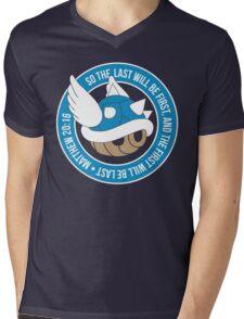 Blue Turtle Shell Mens V-Neck T-Shirt