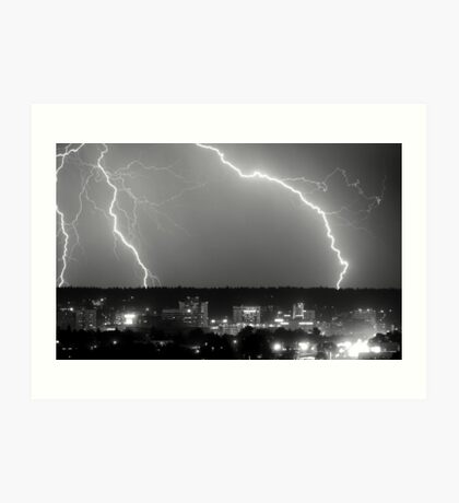 Spokane Electric Skies Art Print