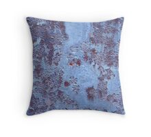 Blue (Metal) Plate Special Throw Pillow