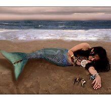Beached mermaid by carrollcreative