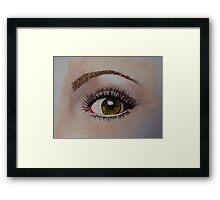 Eye eye - just an eye Framed Print