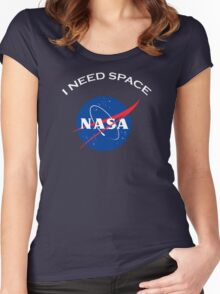 Nasa I need space Women's Fitted Scoop T-Shirt