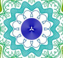 Guilloche Rosette 6.2 Sticker