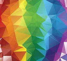 Rainbow Colors Polygonal Background by AnnArtshock