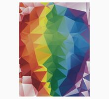 Rainbow Colors Polygonal Background Kids Clothes