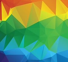 Rainbow Colors Polygonal Background 2 by AnnArtshock
