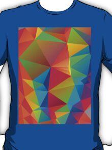 Rainbow Colors Polygonal Background 3 T-Shirt