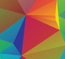 Rainbow Colors Polygonal Background 3 Sticker