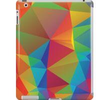 Rainbow Colors Polygonal Background 3 iPad Case/Skin