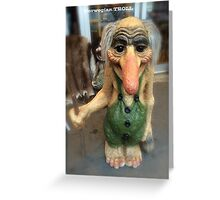 Norwegian Troll Greeting Card