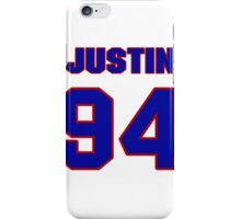 National football player Justin Francis jersey 94 iPhone Case/Skin