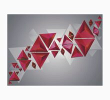 Red 3d Triangles Kids Clothes