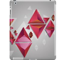 Red 3d Triangles 2 iPad Case/Skin