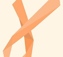 Geometric Womb Cancer Ribbon by DParry