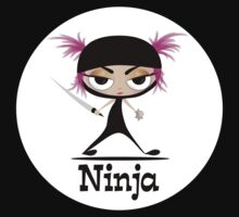 Cute Ninja Girl Vector Art by Brenda Boo