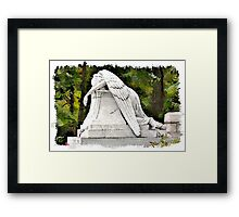 Weeping Angel watercolour Framed Print