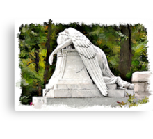 Weeping Angel watercolour Canvas Print