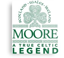Cool 'Moore, A True Celtic Legend' Last Name TShirt, Accessories and Gifts Metal Print