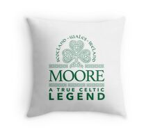 Cool 'Moore, A True Celtic Legend' Last Name TShirt, Accessories and Gifts Throw Pillow