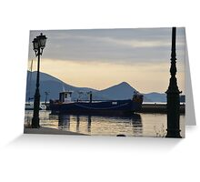 Landing Craft In The Gulf Of Corinth Greeting Card