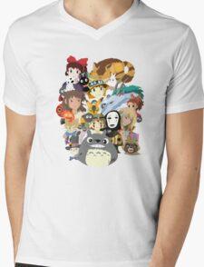 Studio Ghibli Collage Mens V-Neck T-Shirt