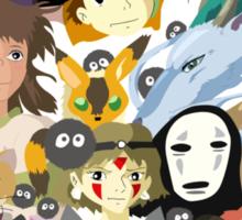 Studio Ghibli Collage Sticker