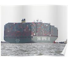 CSCL Globe - The World's Largest Container Poster