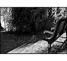 BW bench Photographic Print