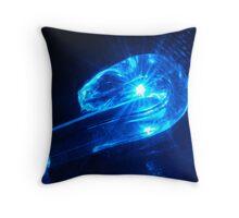 Laser worm! Throw Pillow