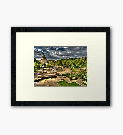 Legislature Grounds in HDR Framed Print